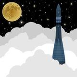 Lançamento de Rocket em space-2 Imagens de Stock