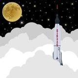 Lançamento de Rocket em space-3 Fotografia de Stock Royalty Free