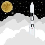 Lançamento de Rocket em space-1 Fotos de Stock