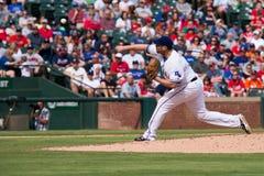 Lançamento de Texas Rangers Pitcher Colby Lewis Fotografia de Stock Royalty Free