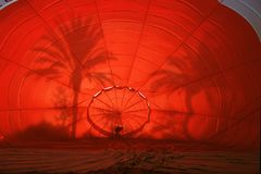 Lançamento do Ballon do ar quente Imagens de Stock Royalty Free