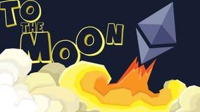 Lançamentos do éter à lua Crescimento rápido Fotografia de Stock Royalty Free