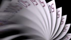 Lançando cinco cem euro- notas, close-up rendição 3d Imagem de Stock Royalty Free