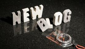 Lançando um curso novo ou a caminhada do blogue Imagens de Stock Royalty Free