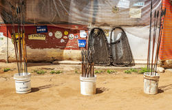 Lanças africanas Imagens de Stock