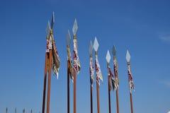 Lanças decorativas Fotografia de Stock