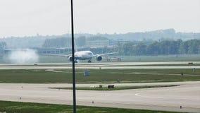 LAN Airlines acepilla el aterrizaje en el aeropuerto de Francfort, FRA