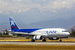 LAN Airlines Aerobus A320 Zdjęcia Stock