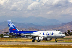 LAN Airlines Aerobus A319 Obrazy Stock