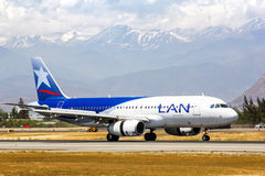 LAN Airlines Airbus A320 Royalty Free Stock Photography