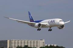 LAN Boeing 787. Frankfurt/Germany March 12, 2014:LAN Boeing 787 at FrankfurtAirport Stock Photography
