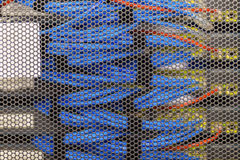 Lan cable in Cambridge Server Rack Royalty Free Stock Image