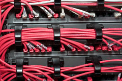 Lan cable organizer Royalty Free Stock Images