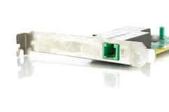 Lan card. On white background shot in studio Royalty Free Stock Images