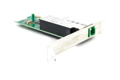 Lan card. On white background shot in studio Royalty Free Stock Photography
