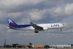 LAN Cargo jet landing at Miami International Stock Photo