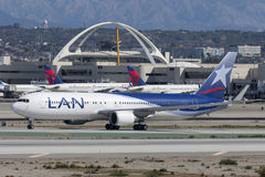 LAN Chile Airlines Boeing 767 Stock Photos