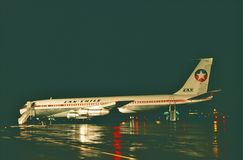 Lan Chile Boeing B-707. Royalty Free Stock Photography