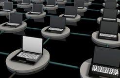 LAN Computer System Stock Image