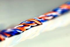Lan da cor do fio da tomada Fotografia de Stock