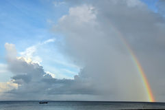 Lan de regenboog van de T-stukbaai Stock Foto