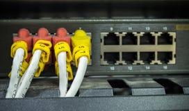 Lan del cable de Internet Imagen de archivo libre de regalías