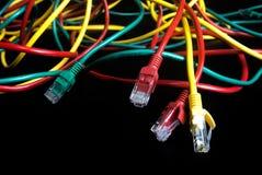 Lan do fio da cor da conexão de Internet Fotografia de Stock Royalty Free