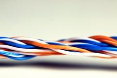 lan do fio da tomada da cor Foto de Stock