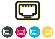 LAN Ethernet Icon Fotografia Stock