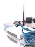 LAN för internet för Ethernet för kabelanslutning Arkivfoto