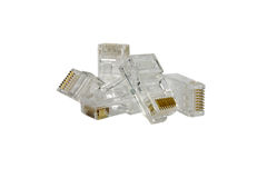 Lan head connector(Rj45) isolated Royalty Free Stock Photo