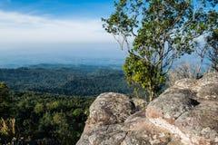 Lan Hin Poom Cliff på den Phu Hin Rong Kla nationalparken Fotografering för Bildbyråer