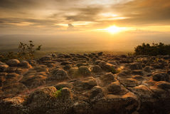 Lan Hin Poom during sunset, Phu Hin Rong Kla National Park, Thai Stock Photos