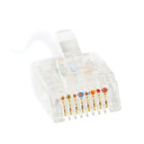 LAN internet ethernet network rj45 jack isolated Royalty Free Stock Images