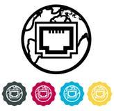 LAN Internet Icon Immagini Stock