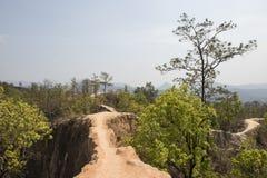 Lan Kang Pai canyon. Pai, Thailand. Lan Kang Pai canyon. narrow tongues of land with precipice in the forest. Pai, Thailand Stock Photos