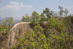Lan Kang Pai canyon. Pai, Thailand. Lan Kang Pai canyon. narrow tongues of land with precipice in the forest. Pai, Thailand Stock Images