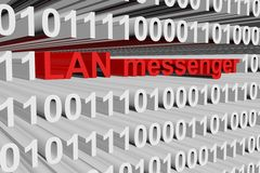 LAN messenger. In the form of binary code, 3D illustration Royalty Free Stock Image