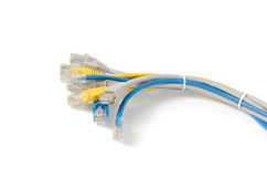 LAN Network cable with RJ-45 connector Royalty Free Stock Image
