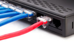 LAN network and ethernet cables Royalty Free Stock Photos