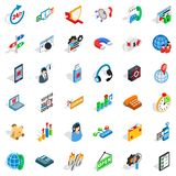 Lan network icons set, isometric style. Lan network icons set. Isometric set of 36 lan network vector icons for web isolated on white background Stock Photos