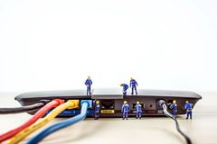 Lan network installation. Technology concept. Lan network installation.Lan network installation. Technology concept Stock Photography