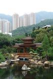 Lan Nian Gardens, Hong Kong. Pagoda gazebo, Lan Nian Gardens, Hong Kong Stock Images