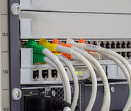 Lan panel switch Royalty Free Stock Image