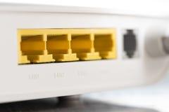 Lan Port of Modem Router Stock Image