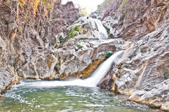 Lan Sang Waterfalls dry closeup Royalty Free Stock Photo