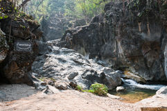 Lan Sang Waterfalls natural of Thailand. Location Royalty Free Stock Image