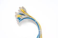LAN sieci kabel z RJ-45 włącznikiem Obrazy Stock