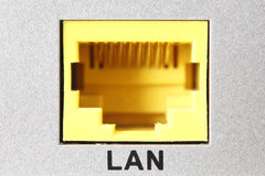 LAN Socket Closeup Fotos de archivo