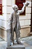 Lana żelazna rzeźba Schoner Nacja w Bratislava Fotografia Stock